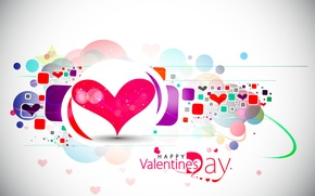 Wallpaper abstraction, holiday, vector, hearts, Valentine's day, Happy Valentine's day