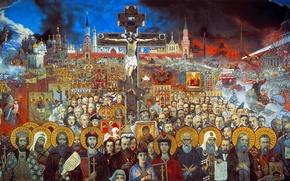 Picture Ilya Glazunov, Eternal Russia, 1988