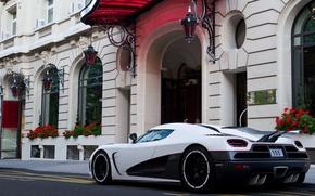 Picture white, Koenigsegg, supercar, supercar, agera, back, agera R, Koenigsegg