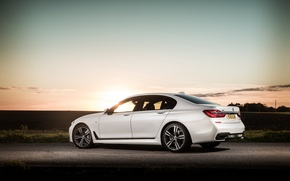 Picture dawn, shadow, BMW, white, 730d