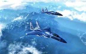 Picture Eagle, model, render, eagle recognition, F-15A