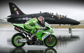 Picture speed, Motorcycle, the plane, WFP, on distillation