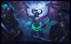 Picture elf, the demon, demon, battle, wow, world of warcraft, The Illidan Stormrage, illidan stormrage