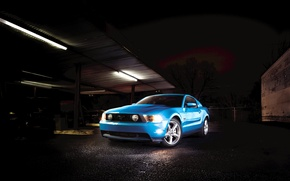 Picture mustang, Garage, ford, muscle car