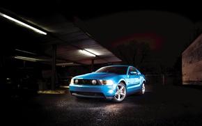 Wallpaper mustang, Garage, ford, muscle car
