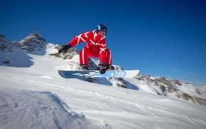 Picture winter, snow, snowboard, Board, guy