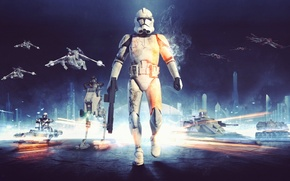 Picture game, Clones, Electronic Arts, DICE, star wars battlefront, TX-130, Clones, Air-170, LAAT, AT-RT, BARC