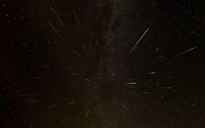 Wallpaper space, stars, drop, the Perseids