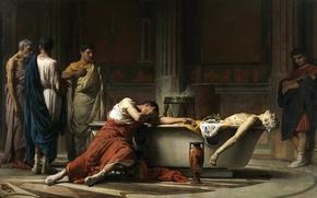 Picture The Death Of Seneca, genre, picture, history, Manuel Dominguez Sanchez