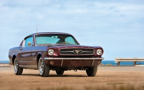 Picture sea, retro, Mustang, Ford, 1965