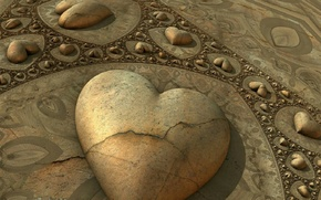 Picture abstraction, stone, heart
