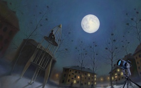 Picture the moon, why we love to watch the stars, Playground, romiro, meditation