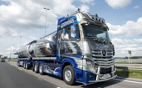 Picture movement, tuning, track, Mercedes, Actros