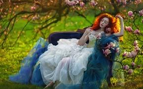 Picture girl, fantasy, art, Agnieszka Lorek, Ophidia, Morning Star