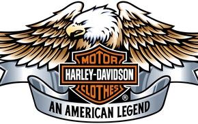 Wallpaper logo, engine, eagle, Harley Davidson