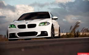 Picture white, the sky, bmw, BMW, 5 series