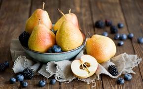 Picture berries, pear, BlackBerry, blueberries