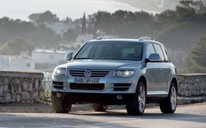 Picture background, Volkswagen, Touareg, the front, Volkswagen, V10, Touareg, tdi