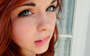 Picture face, Girl, freckles, red