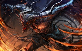 Picture look, fiction, monster, the demon, art, horns