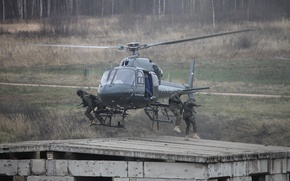 Picture HELICOPTER, AS355 N, SOBR Rys, THE INTERIOR MINISTRY, Landing