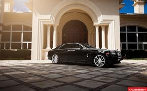 Picture the building, Rolls Royce, Ghost, Vossen Wheels