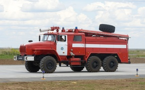 Picture car, fire, Ural-4320