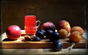 Picture summer, juice, drink, fruit, still life, composition