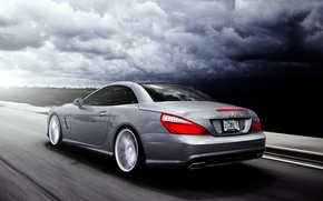 Picture Mercedes-Benz, SL-class, silvery, SL 550