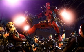 Picture fire, mask, mercenary, deadpool, marvel comics, wade wilson