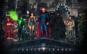 Picture batman, superman, wonder woman, flash, justice league, aquaman