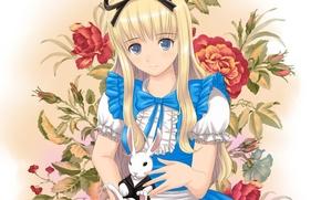 Picture rabbit, art, girl, wonderland, alice, xiao lian
