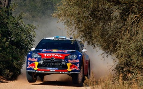 Picture Sport, Machine, Citroen, Portugal, DS3, WRC, Rally, The front, Mikko Hirvonen, Competition