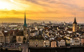 Picture road, the sky, machine, the city, building, Switzerland, street, Zurich