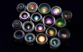 Wallpaper color, Lenses