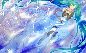 Picture the city, home, art, hearts, Hatsune Miku, Vocaloid, Vocaloid, junji