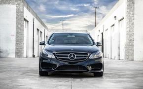 Picture Mercedes-Benz, wheels, black, Mercedes, front, E350, Chevy