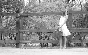 Picture girl, portrait, garden