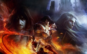 Picture look, cross, vampire, Alucard, whip, Castlevania: Lords of Shadow - Mirror of Fate, Konami, Dracula, …