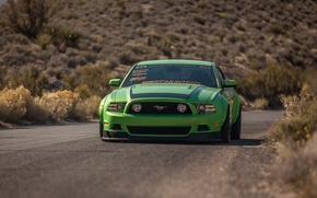Picture Mustang, Ford, Green, Ford, Muscle, Mustang, Muscle, Car, Green, RTR, Kar