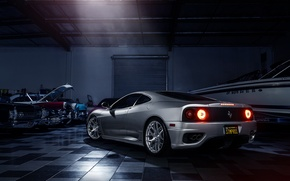 Picture Silver, Before, Ferrari, Garde, Rear, Supercar, Modena, Wheels, 360