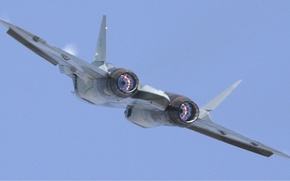 Picture flight, rear view, nozzle, PAK FA