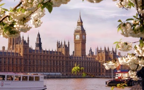 Picture England, London, The city, River, The Parliament Building