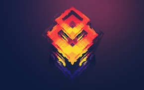 Picture art, cube, Justin Maller