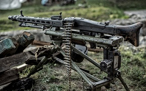 Picture weapons, world, Second, times, German, (Machine gun 42), machine gun, MG 42, single, war