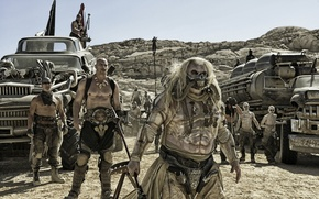 Picture desert, chaos, postapocalyptic, Mad Max, Fury Road, Mad Max, this moment, Road rage, madness, thugs