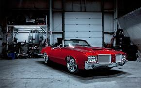 Picture 1971, Oldsmobile, Cutlass, Supreme red