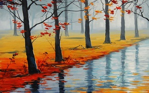 Wallpaper ART, FIGURE, ARTSAUS, WAT AUTUMN ROAD