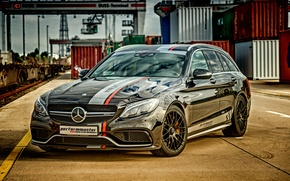 Picture black, Mercedes-Benz, Mercedes, AMG, Black, AMG, universal, C-Class, S205, Performmaster