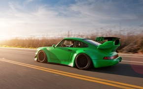 Wallpaper Porsche, sport tuning, Porshe, machine, 911, road, car